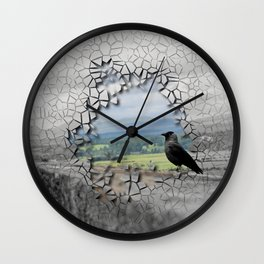 Cracked Up View Wall Clock