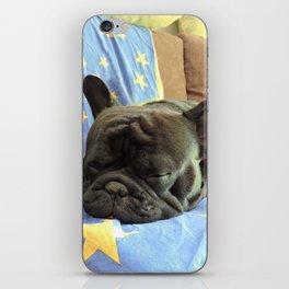 Bulldog Frances Durmiendo iPhone Skin
