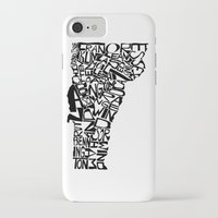 vermont iPhone & iPod Cases featuring Typographic Vermont by CAPow!