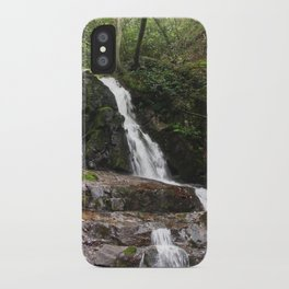 Tennessee Waterfall Smoky Mountains Color Photo iPhone Case