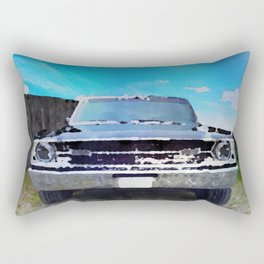 vintage car aquarell Rectangular Pillow