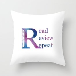 Read, Review, Repeat Throw Pillow