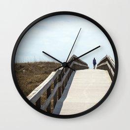 Ocracoke Pony Pen Boardwalk 2018 Wall Clock