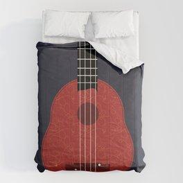 Ukulele Illustration Comforters