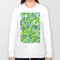 lime green Long Sleeve T-shirts featuring lime worm by Healinglove art products