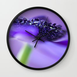 Purple Anemone Wall Clock