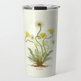 Dandelions Illustration Travel Mug
