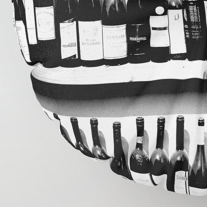 Wine Bottles in Black And White #society6 #decor Floor Pillow
