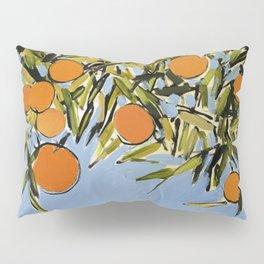 Orange Grove (Blue) Pillow Sham