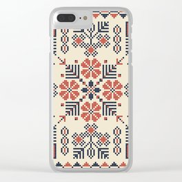 Embroidery from Palestine Clear iPhone Case