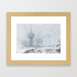 Čot Station, Vojvodina 2230 Framed Art Print