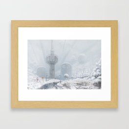 Čot Station, Vojvodina 2230 Framed Art Print