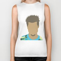 tyler durden Biker Tanks featuring Tyler Durden Fight Club by Rosaura Grant