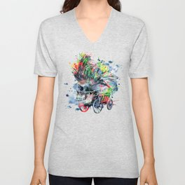 COLORFUL SKULL Unisex V-Neck