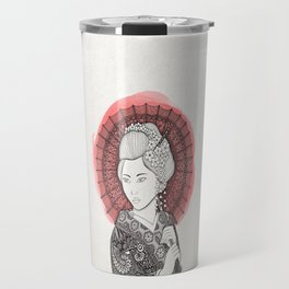 Japanese flag and Geisha Travel Mug