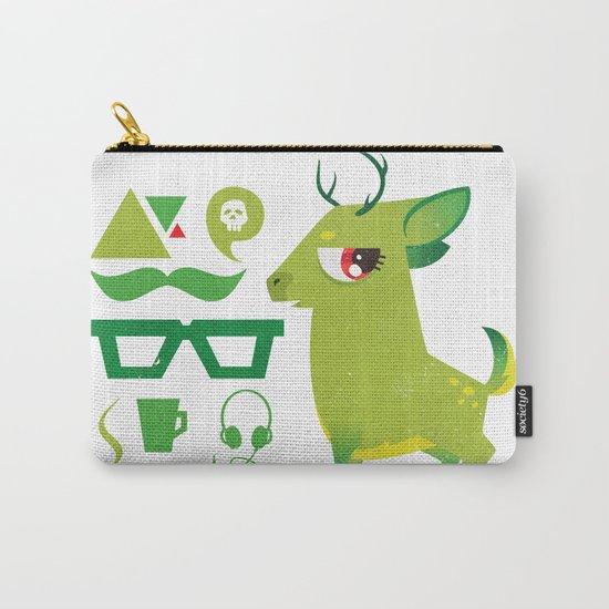 Hipsdeer (green) Carry-All Pouch