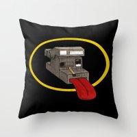polaroid Throw Pillows featuring Polaroid by gunberk