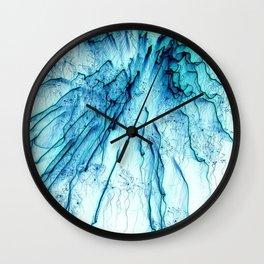 Special Fireworks, aqua Wall Clock