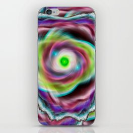 Rainbow psychedelic vortex iPhone Skin