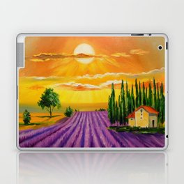 Lavender field at sunset Laptop & iPad Skin