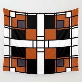 Neoplasticism symmetrical pattern in tangelo Wall Tapestry