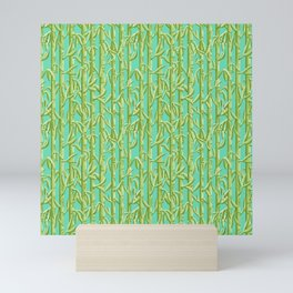 Green Bamboo Shoots Mini Art Print