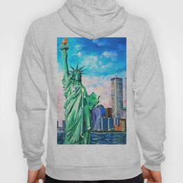 NYC, WTC, Twin Towers, Statue of Liberty Hoody