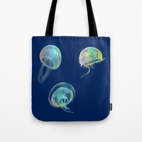jellyfish Tote Bags featuring Jellyfish by Vitta