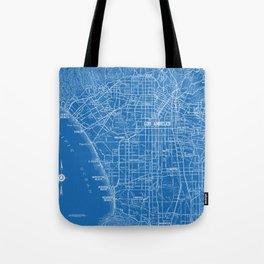Los Angeles Street Map Tote Bag