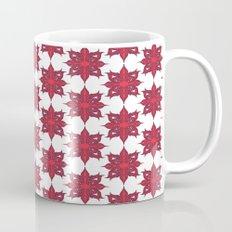 Flowery Red Coffee Mug