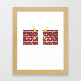 Lacrosse Goalie Think of Me As the Wall You Should Have Practiced On Framed Art Print