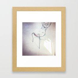 love chair Framed Art Print