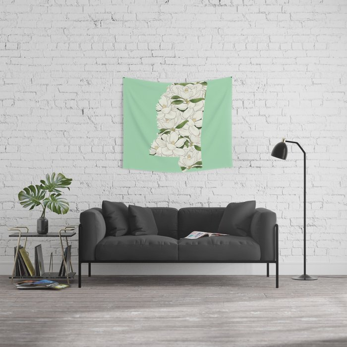 Mississippi in Flowers Wall Tapestry