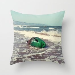 the green buoy Throw Pillow