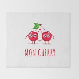 Mon Cherry Throw Blanket