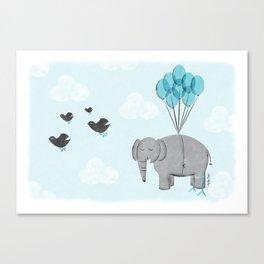 Elephant Bird Canvas Print