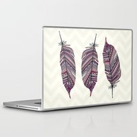 feather Laptop & iPad Skins featuring FEATHER by Monika Strigel