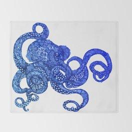 Ombre Octopus Throw Blanket