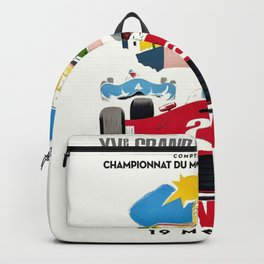 Classic Grand Prix Poster Backpack