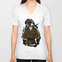 watchmen V-neck T-shirts featuring  Rorschach (Watchmen) by  Steve Wade ( Swade)