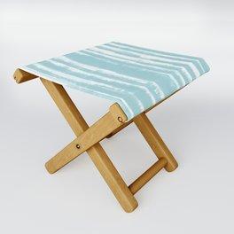 Shibori Stripe Seafoam Folding Stool