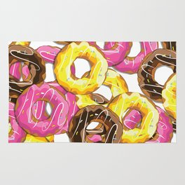Delicious donut pattern Rug