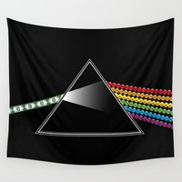 prism Wall Tapestries featuring Money Prism by DinoCreations