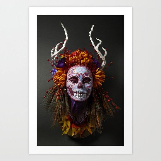 Autumn Muertita Front Art Print