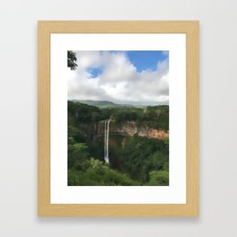 Waterfall at Black River Gorges Park Framed Art Print