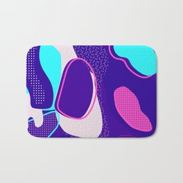 Mint and Lavender Abstracts Collection, Pattern 1 Bath Mat