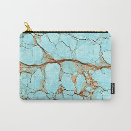Cracked Turquoise & Rust Carry-All Pouch