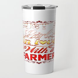 In love with a farmer Travel Mug