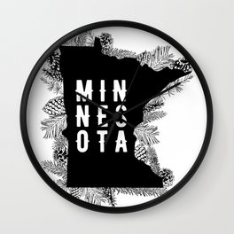 Minnesota Pine Wall Clock