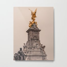 Victoria Monument as seen from Buckingham Palace side London England Metal Print